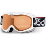 """Bolle Volt White Stars w/ Citrus Lens Brand New Includes One Year Warranty, Product # 21005 (Blue Geo w/ Vermillon Lens) Product # 21004 (Green Geo w/ Vermillon Lens) Product # 21001 (Black Geo w/ Citrus Lens) Product # 21003 (White Stars w/ Vermillon Lens) Product # 21002 (Pink Stars w/ Vermillon Lens) Product # 20999 (White Stars w/ Citrus Lens) Product # 21007 (Black Geo w/ Vermillon Lens) The Bolle Volt is a ski goggle which comes in a striking range of colours and lens tints and offer 100 protection against harmful UVA/UVB rays"